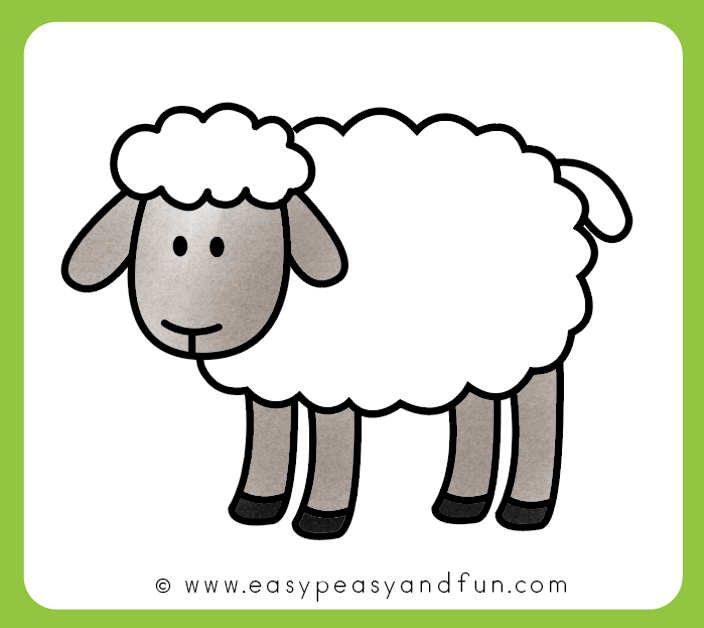 How to draw a. Clipart sheep sheep drawing