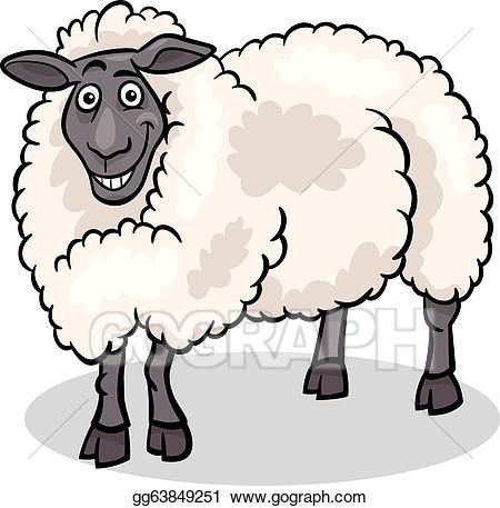 Lamb clipart barnyard animal. Eps illustration sheep farm