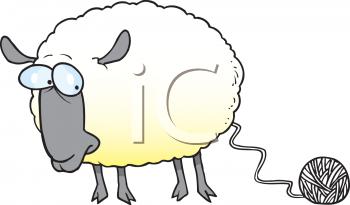 Lamb clipart sheep wool. Knitting clip art royalty