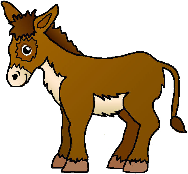 Politics clipart donkey. Nativity jesus and joseph