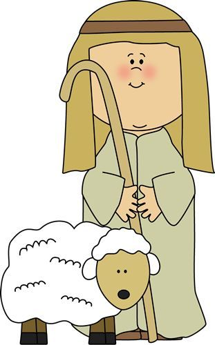 Shepherd with sheep clip. Lamb clipart psalm 23