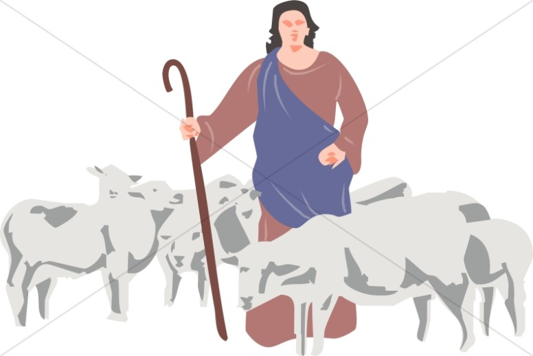 A and his christian. Clipart sheep shepherd