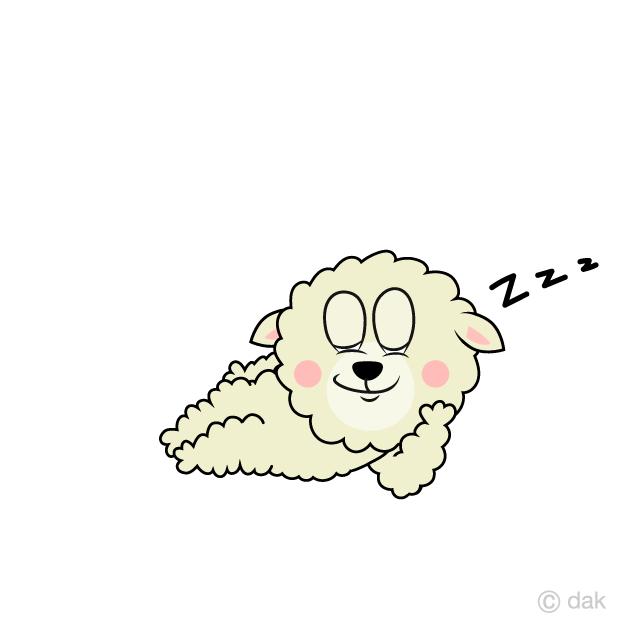 Cartoon free picture illustoon. Clipart sheep sleeping