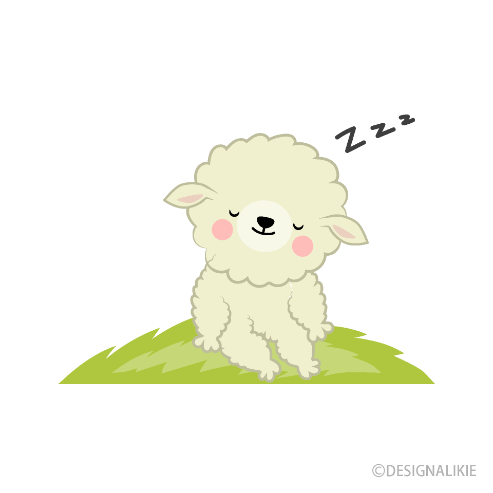 Cute free picture illustoon. Sheep clipart sleeping