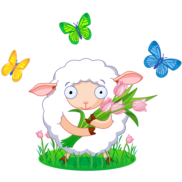 Facebook symbols emoticons lambs. Lamb clipart spring
