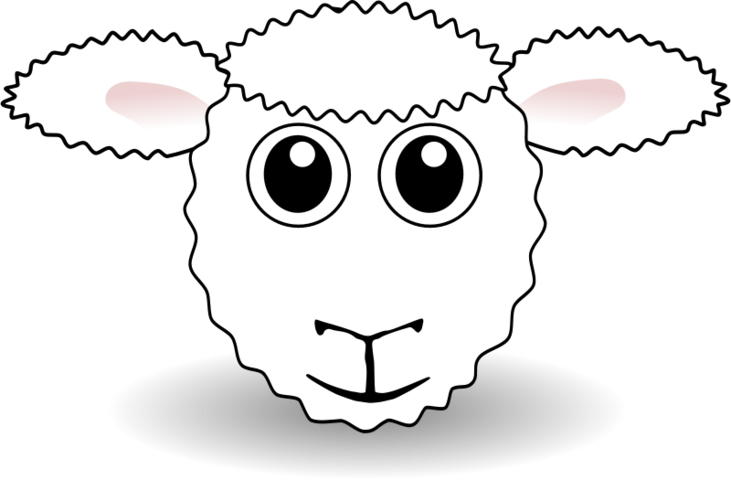 Footprint clipart goat. Free funny sheep face