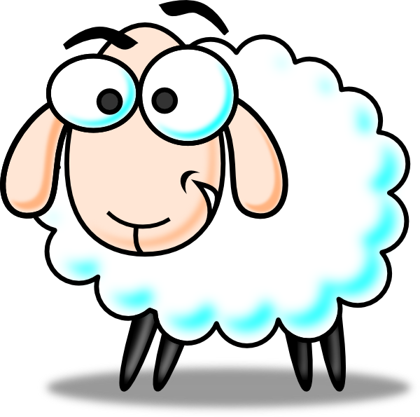 Cow clipart colored. Flock of sheep panda