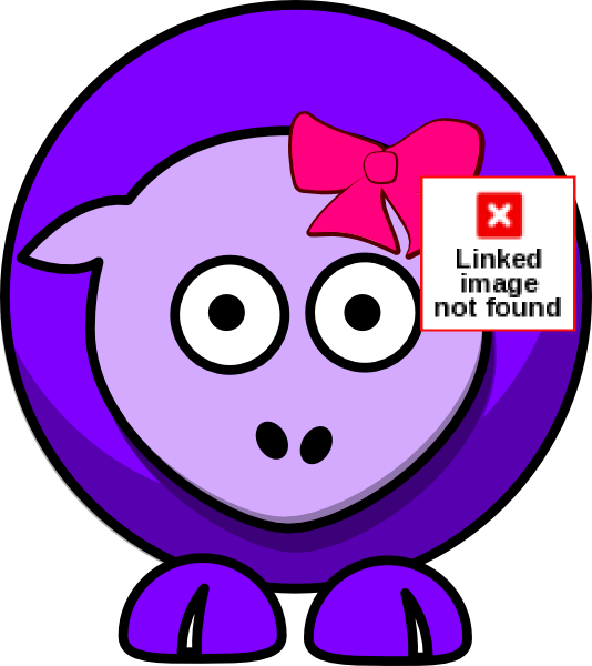 Footprint clipart sheep. Two toned purple with
