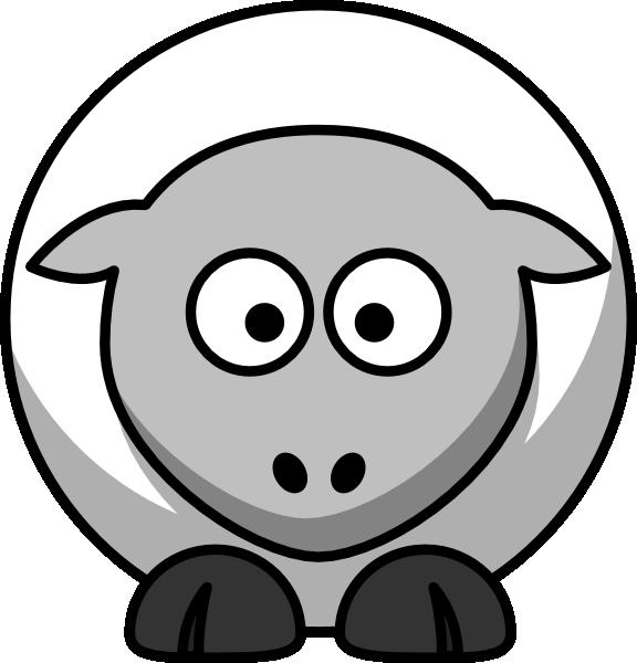 Clip art black and. Lamb clipart wooly sheep