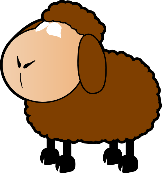 Brown clip art at. Home clipart sheep