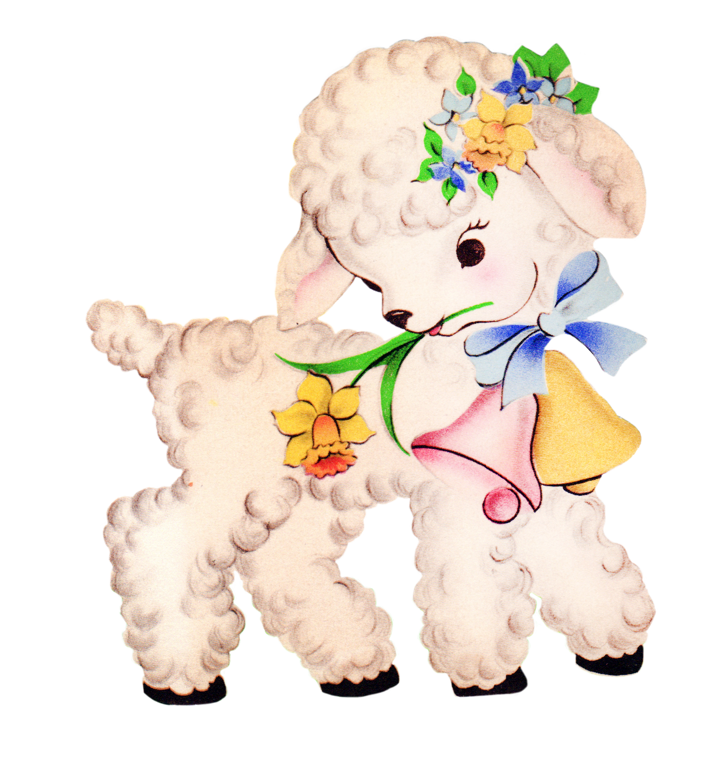 Free baby pretty things. Lamb clipart vintage