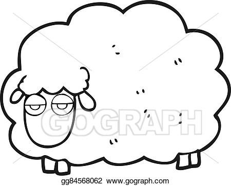 Sheep clipart winter. Eps vector black and