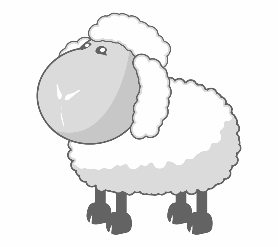 In gray baa clip. Clipart sheep wooly sheep