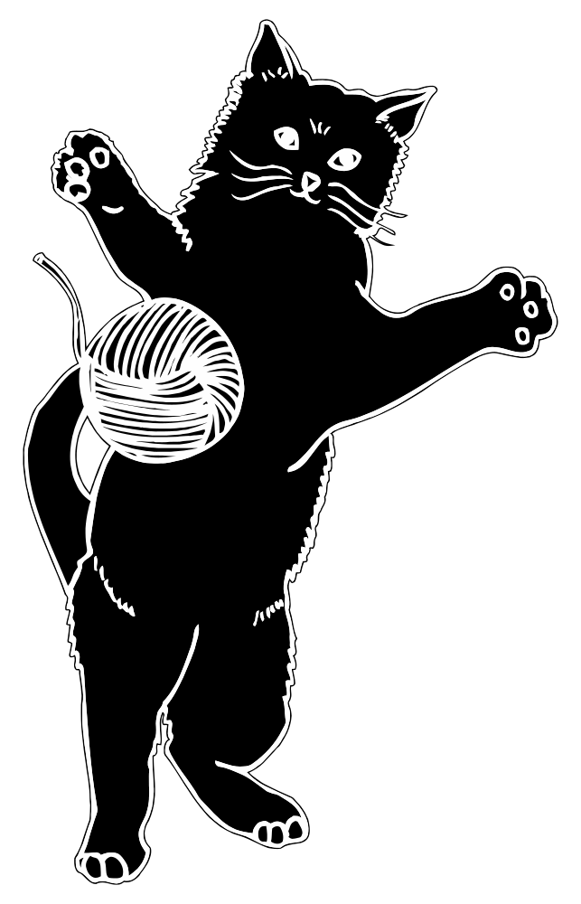 Clipart sheep yarn. Cat with clip art