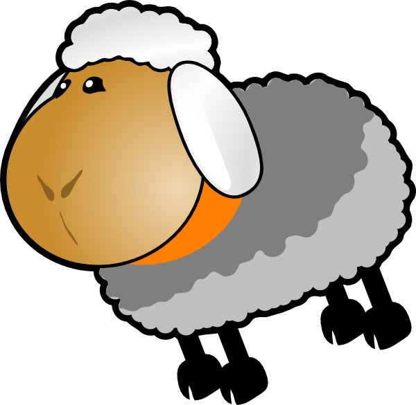 Sheep clipart family. Grey yellow clip art