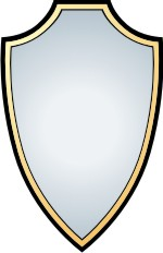 Clipart shield. Outline panda free images