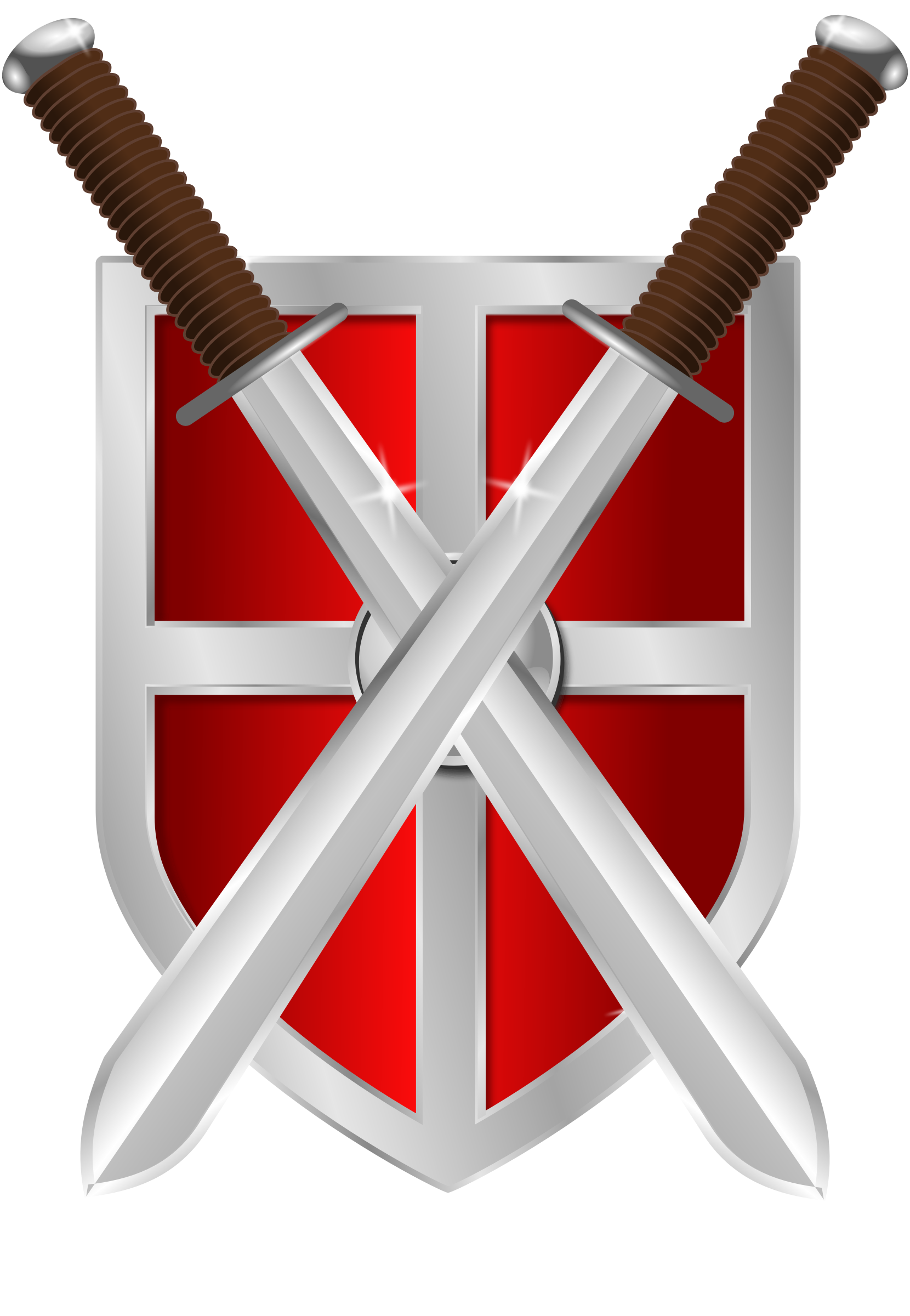 Swords and a big. Clipart shield armor shield
