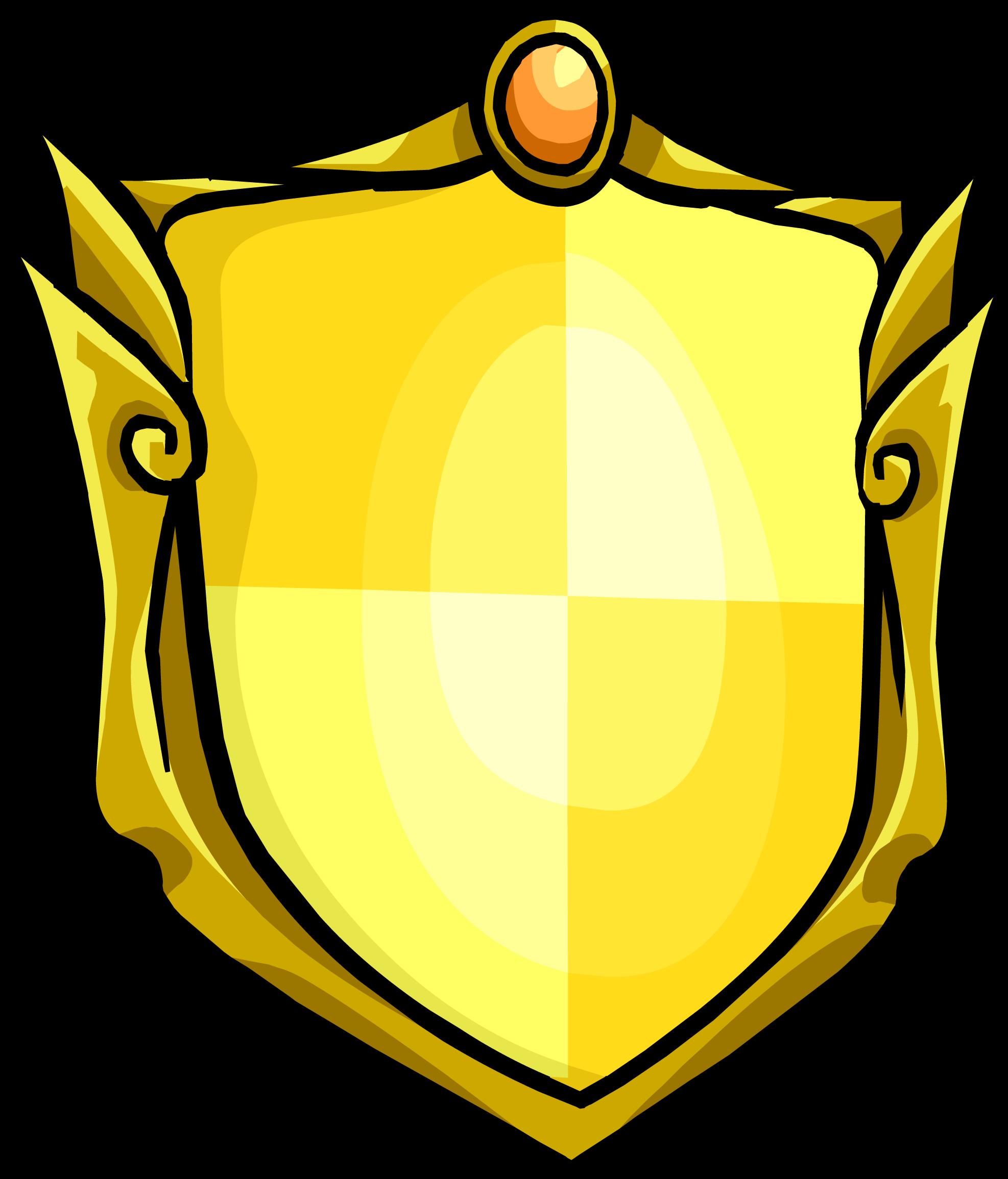 Knights clipart sheild. Golden shield club penguin