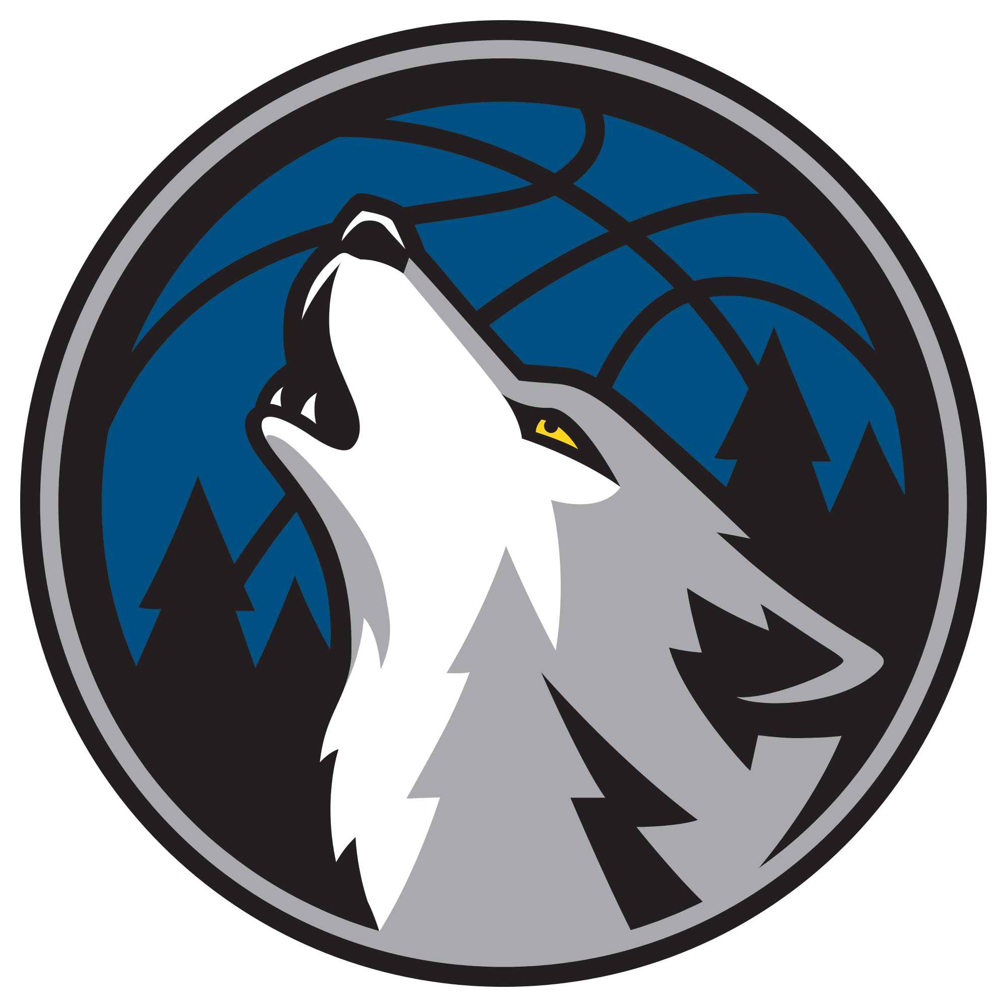 Minnesota timberwolves officially unveil. Clipart shield basketball