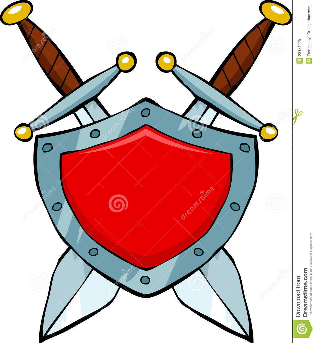 And shield free download. Clipart sword round