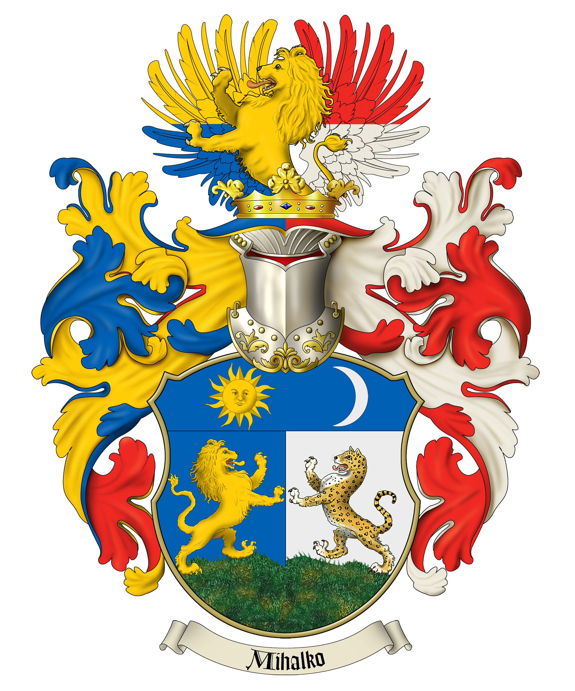 And coat of arms. Wing clipart family crest