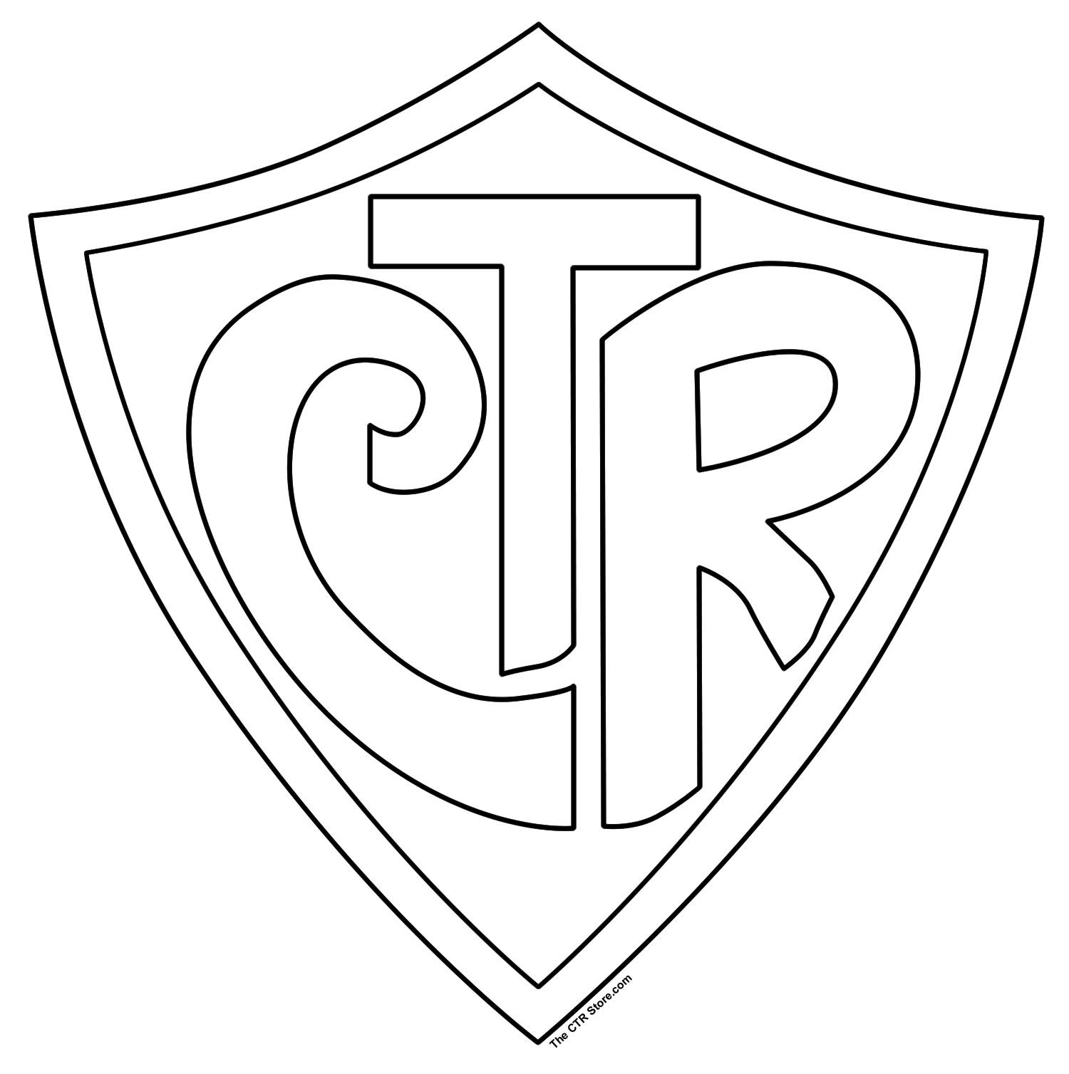 Lds clipart logo. Free ctr shield printable