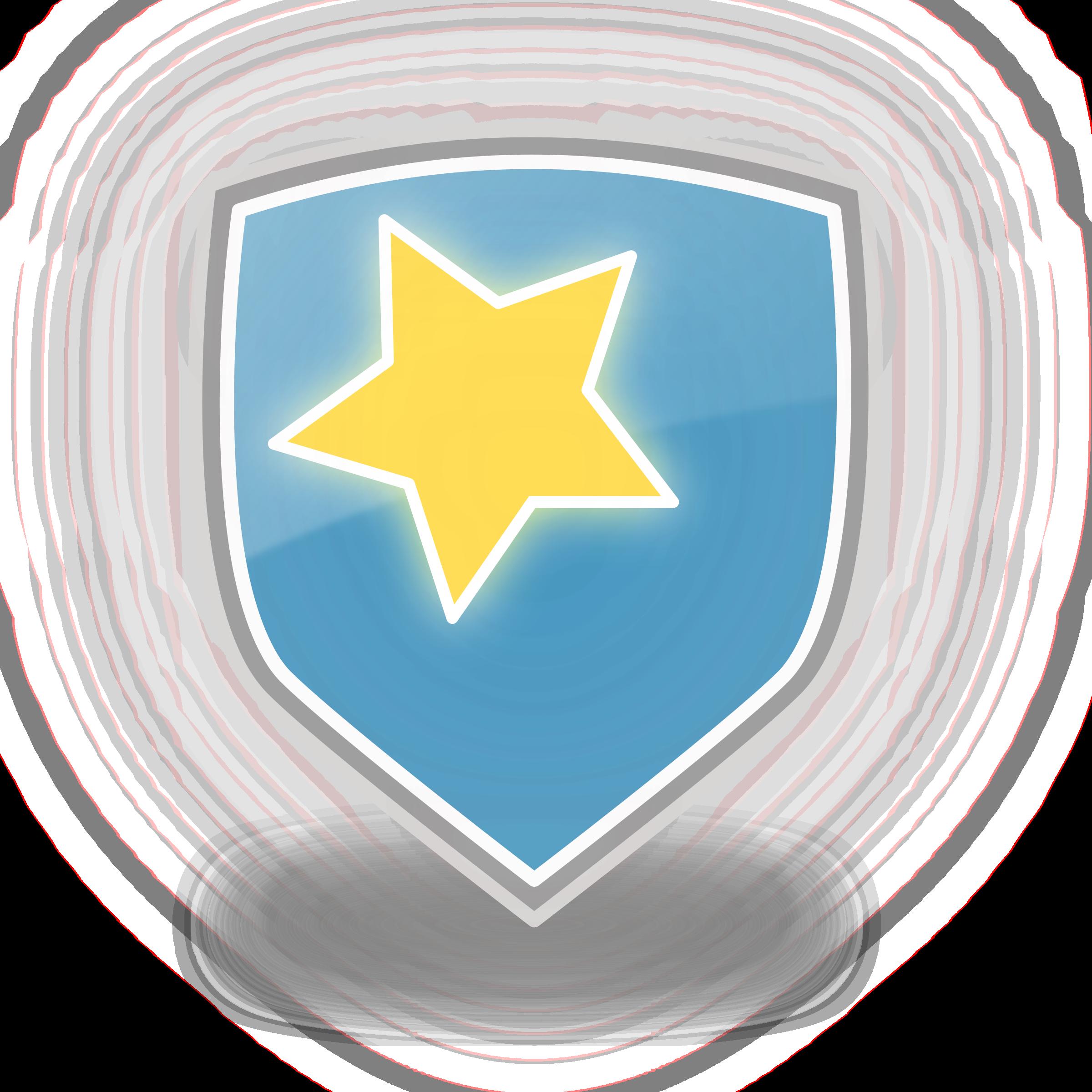 Blue star icon big. Clipart shield colour