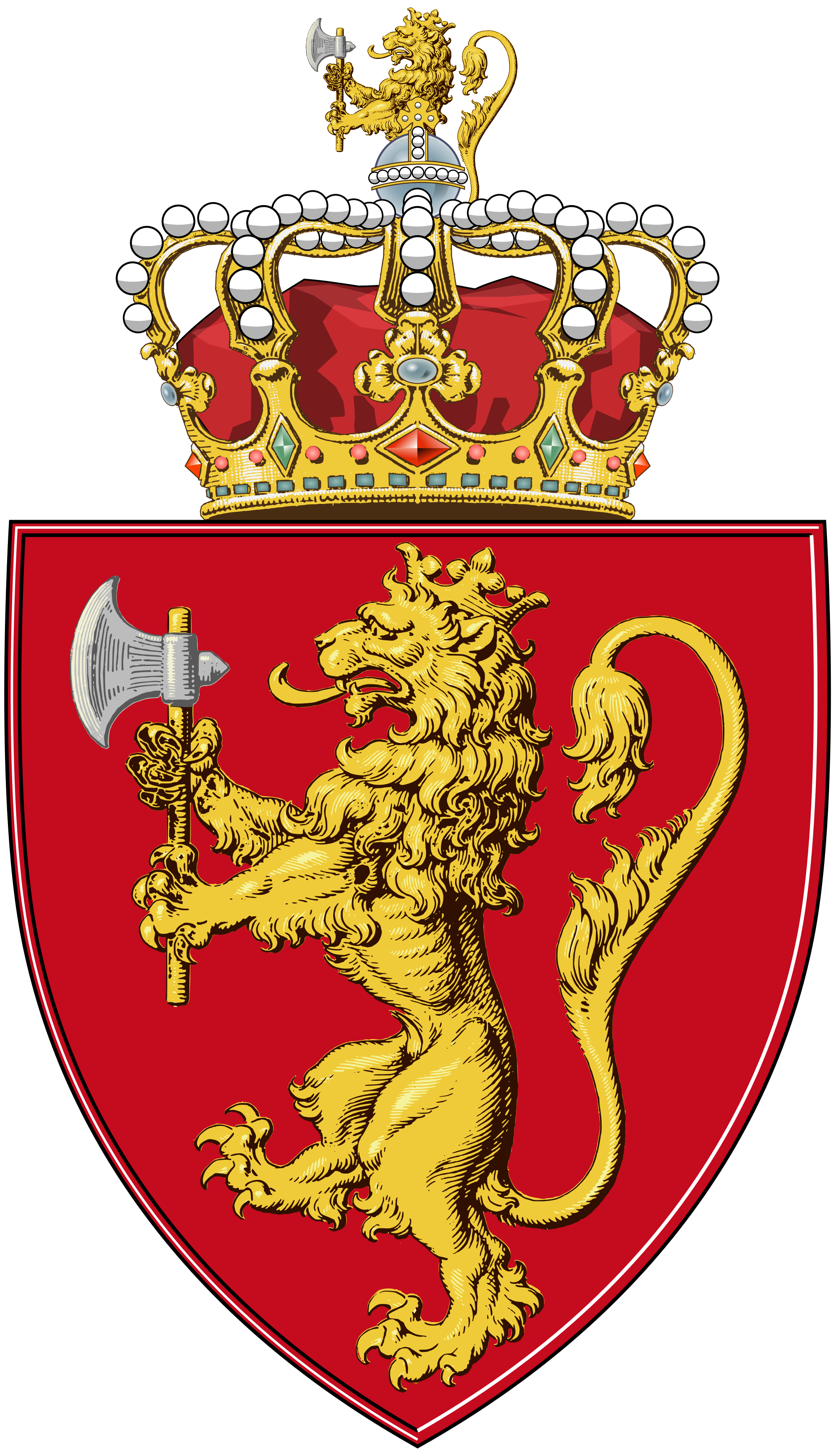Coat of arms norway. Wing clipart family crest