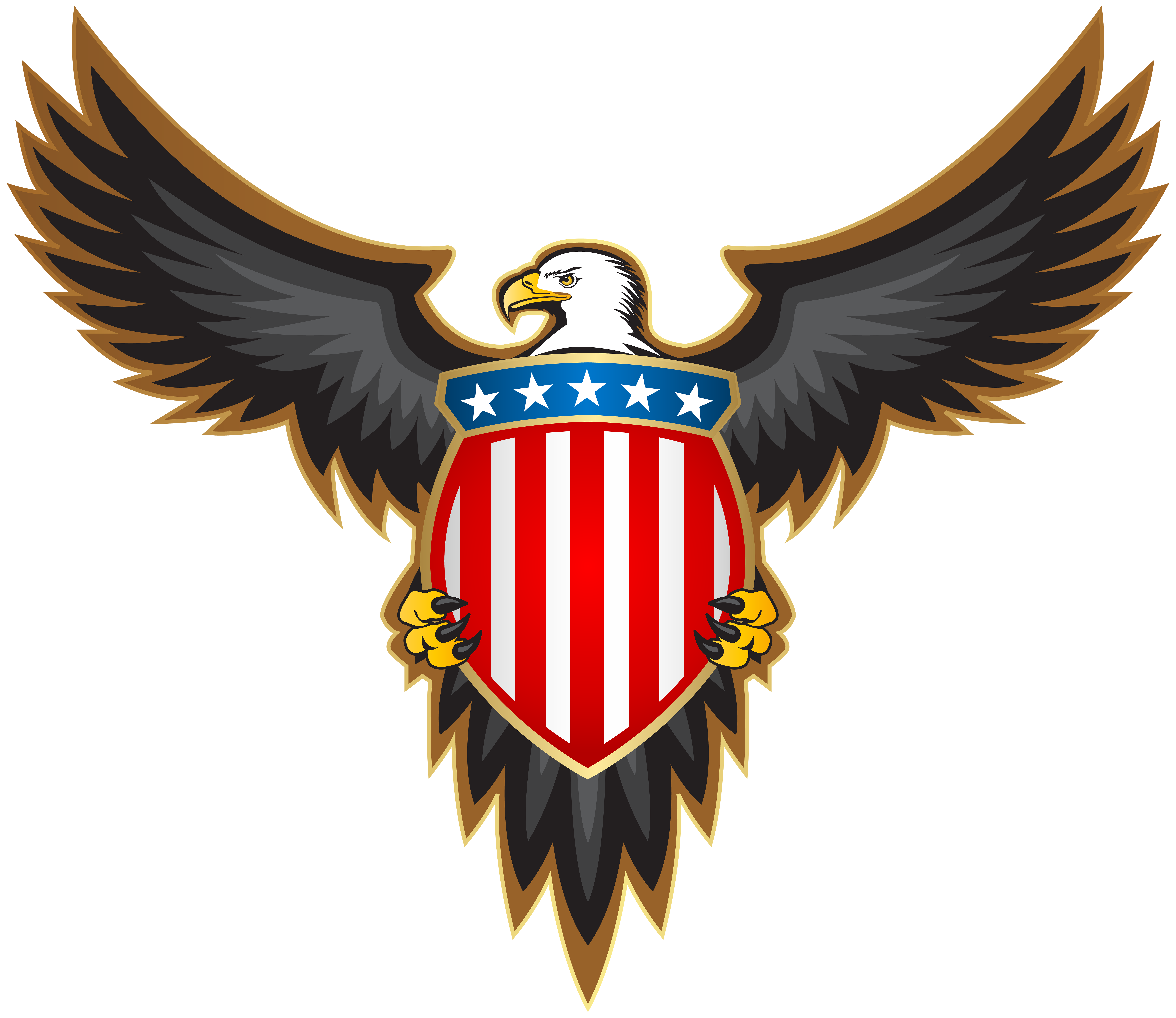 With american badge png. Eagle clipart red