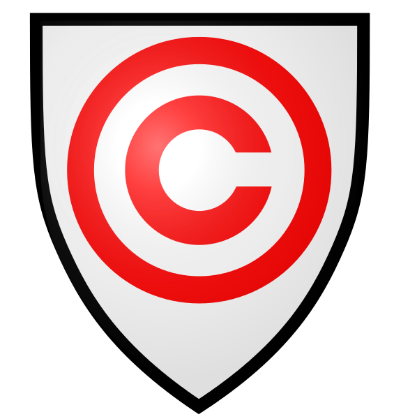 File copyright svg wikimedia. Clipart shield emblem