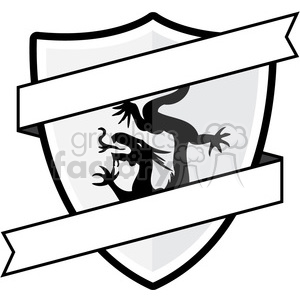 Clipart shield emblem. With dragon royalty free