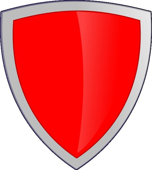 Clipart shield emblem. Red security clip art