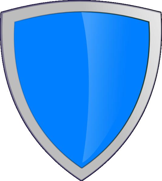 Clipart shield emblem. Blue security clip art