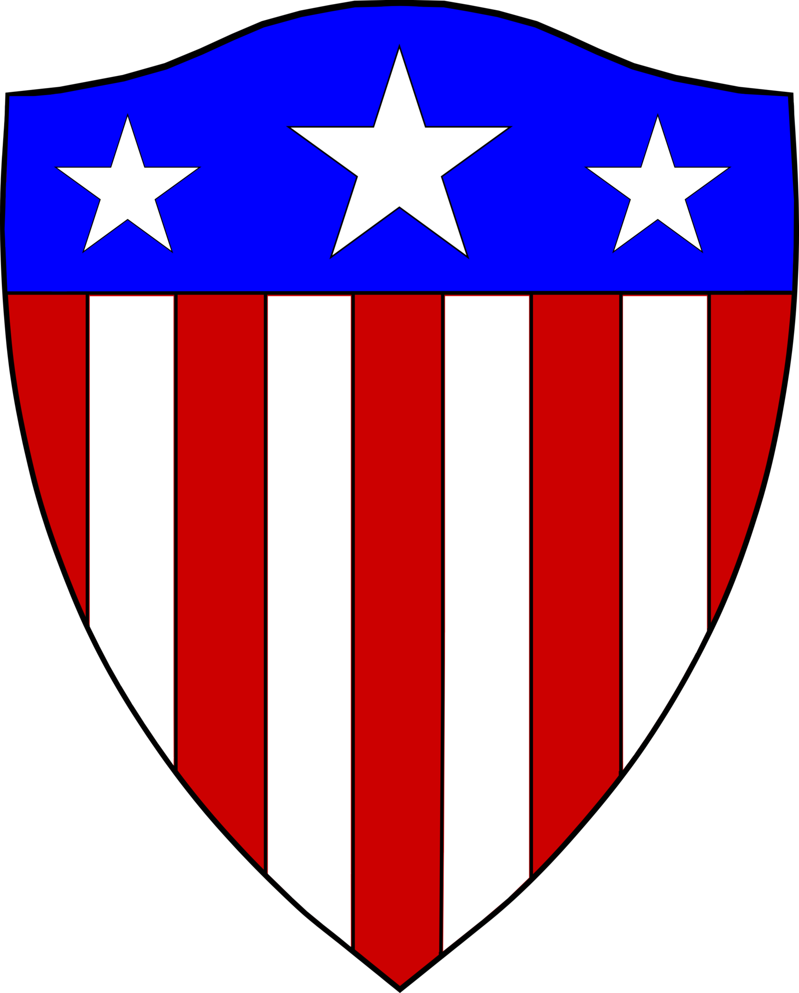 America typical free collection. Clipart shield fancy