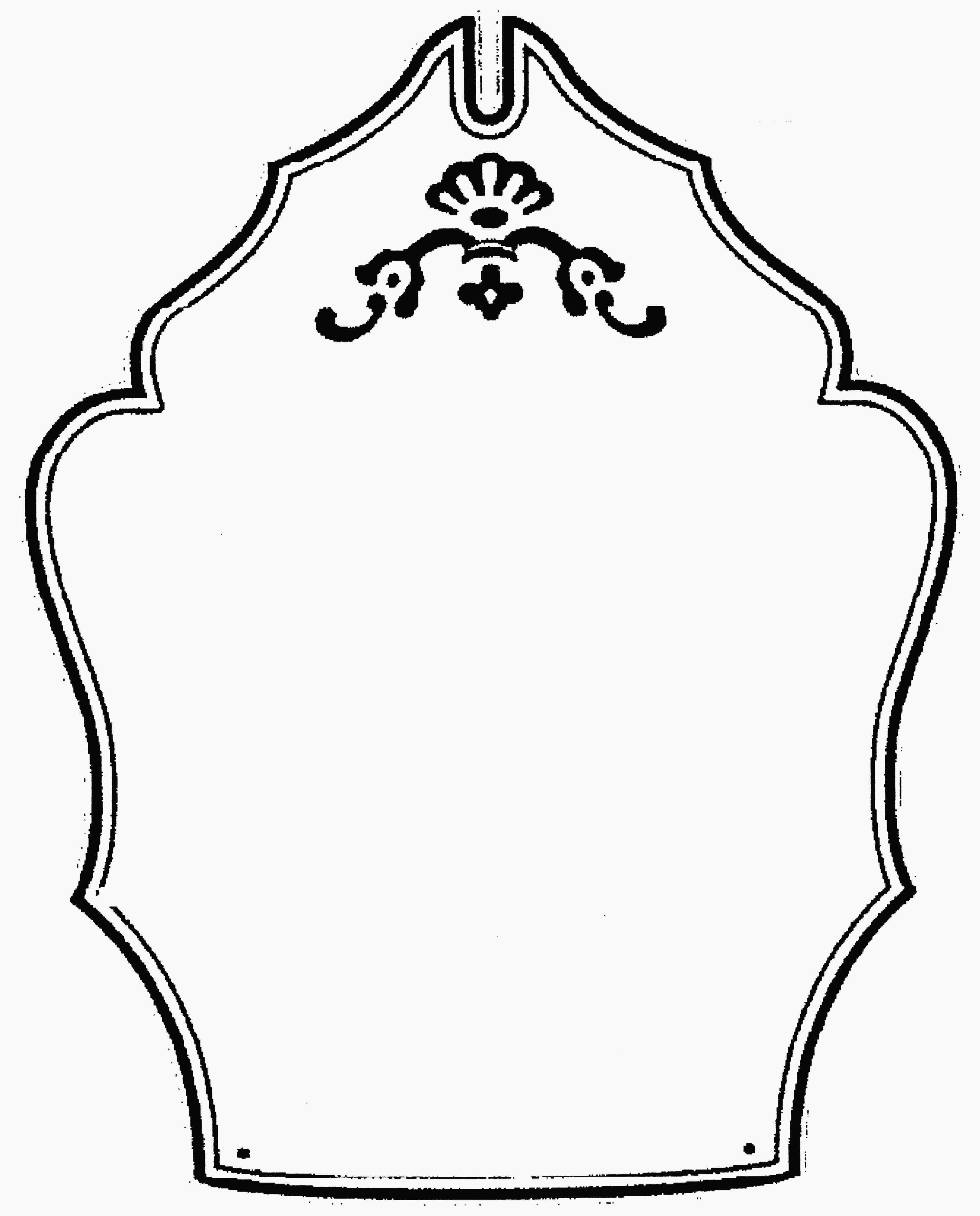 Blank logo template clip. Clipart shield fancy