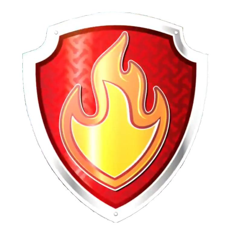Firefighter clipart shield. Logo symbol badge clip