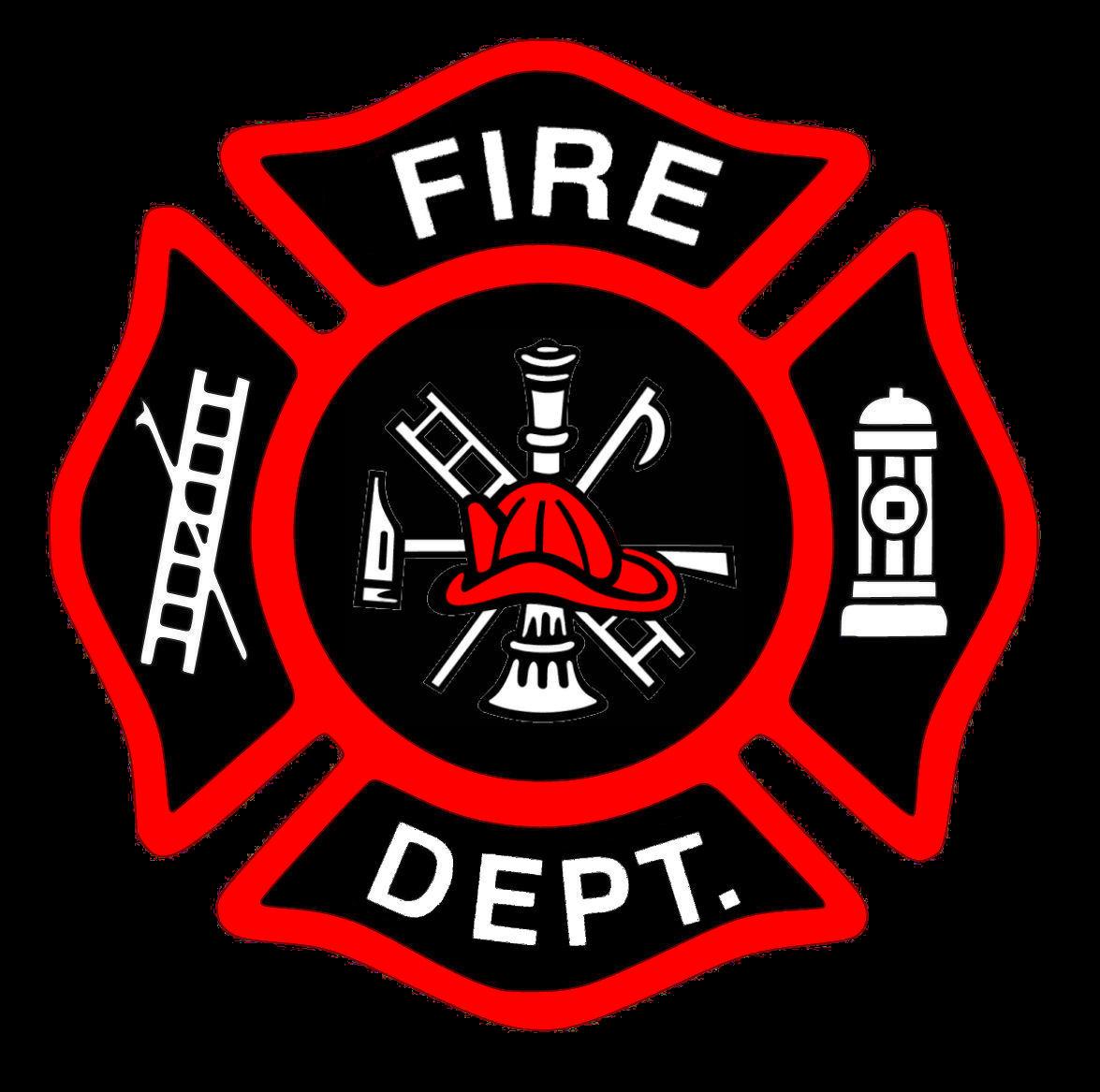Shield . Firefighter clipart emblem