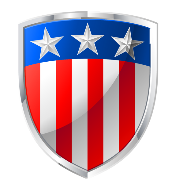 American badge decor png. Scrapbook clipart 4th july