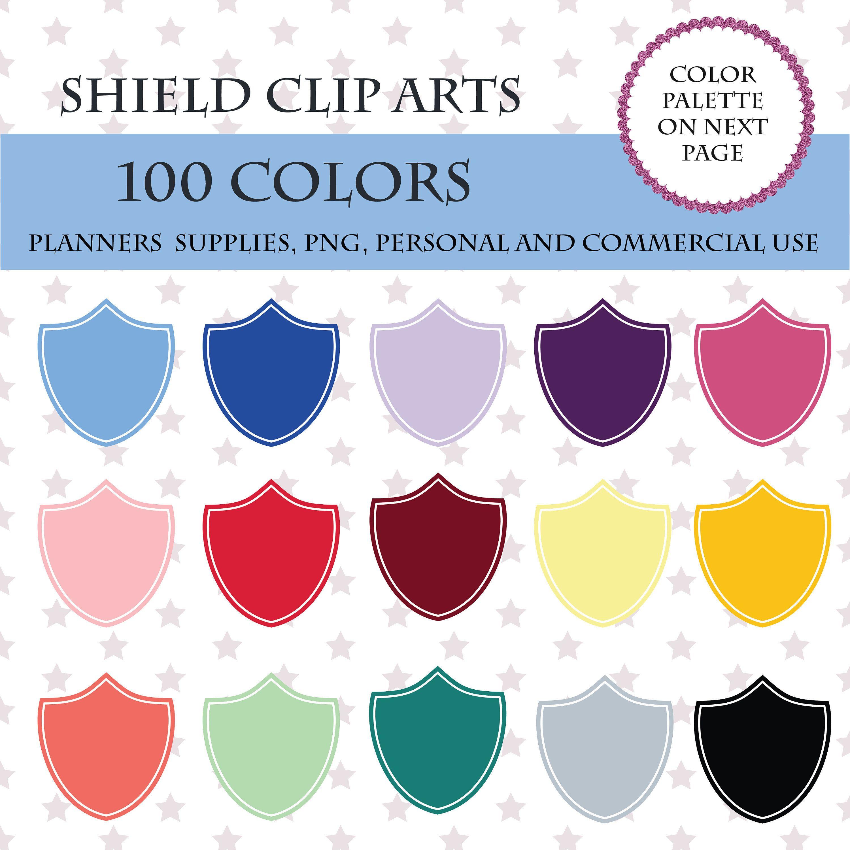 colors clip art. Clipart shield frame