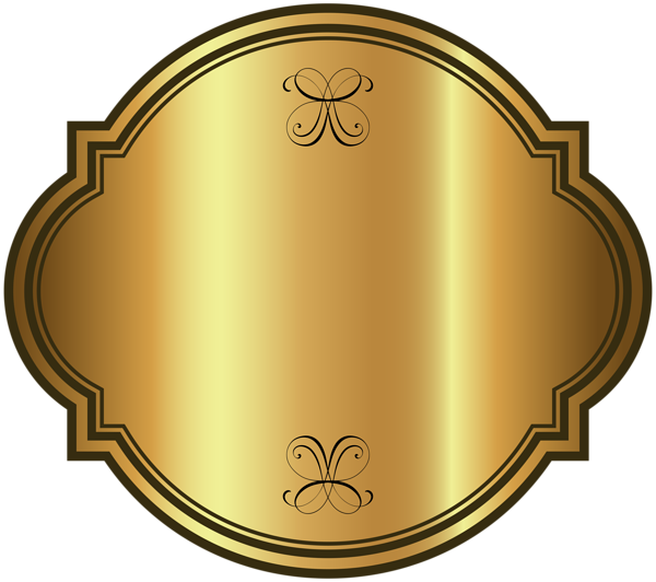 Clipart shield frame. Gold luxury label template