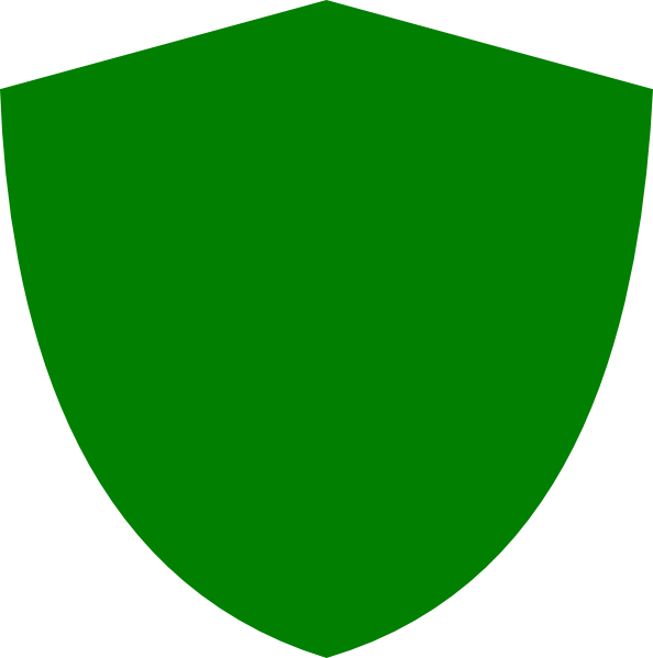 clipart shield green