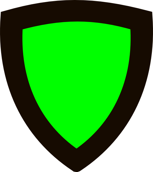 Clipart shield green. White with blue outline