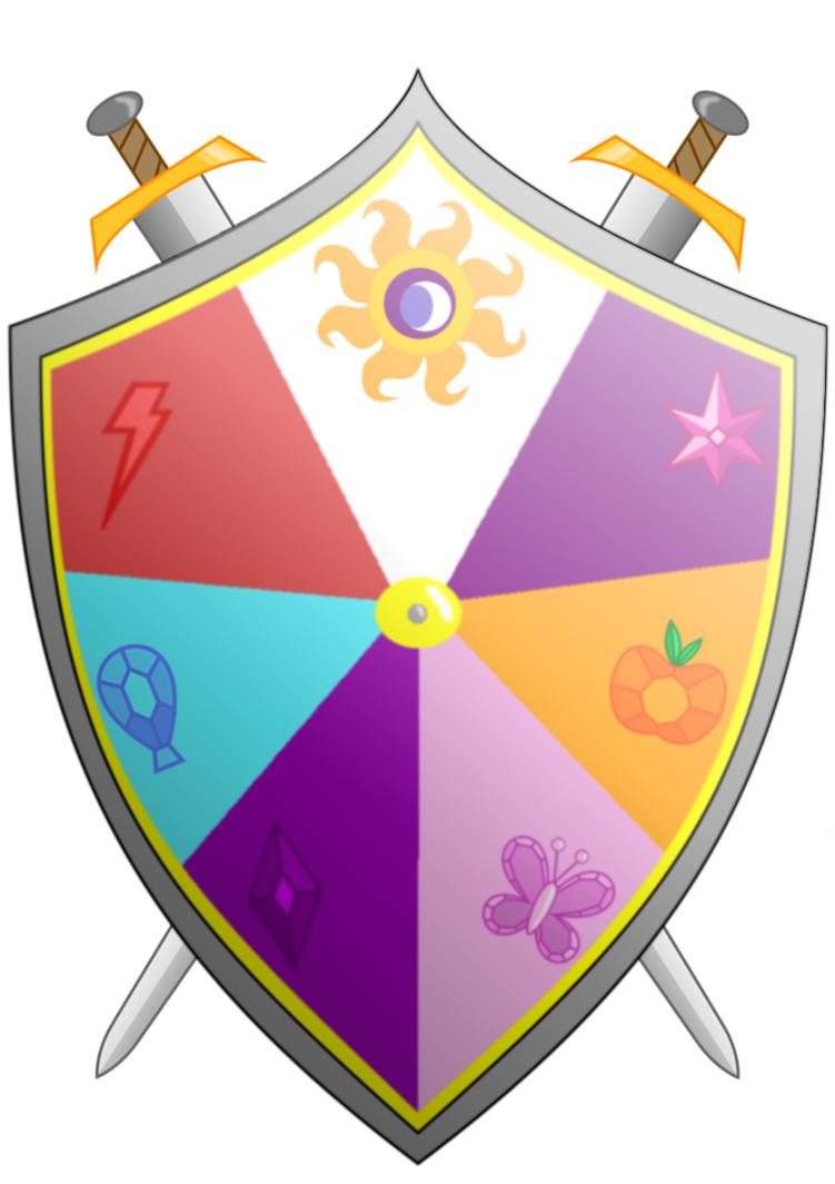 Knights of harmony and. Clipart shield grunge