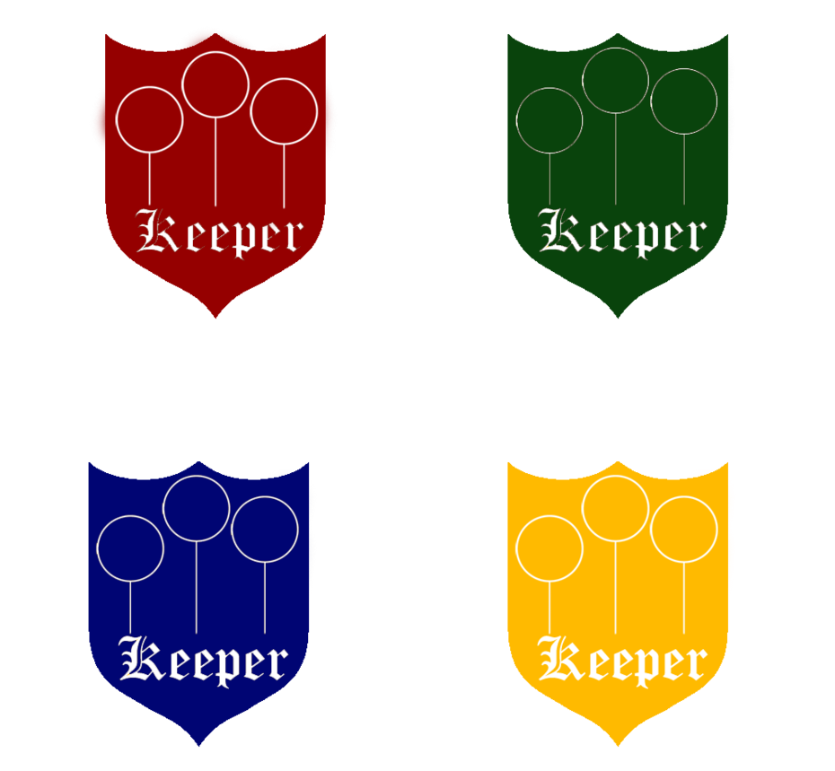 Clipart shield hogwarts. Quidditch badges keeper by