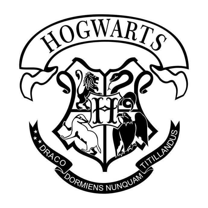 Clipart shield hogwarts. Harry potter school crest