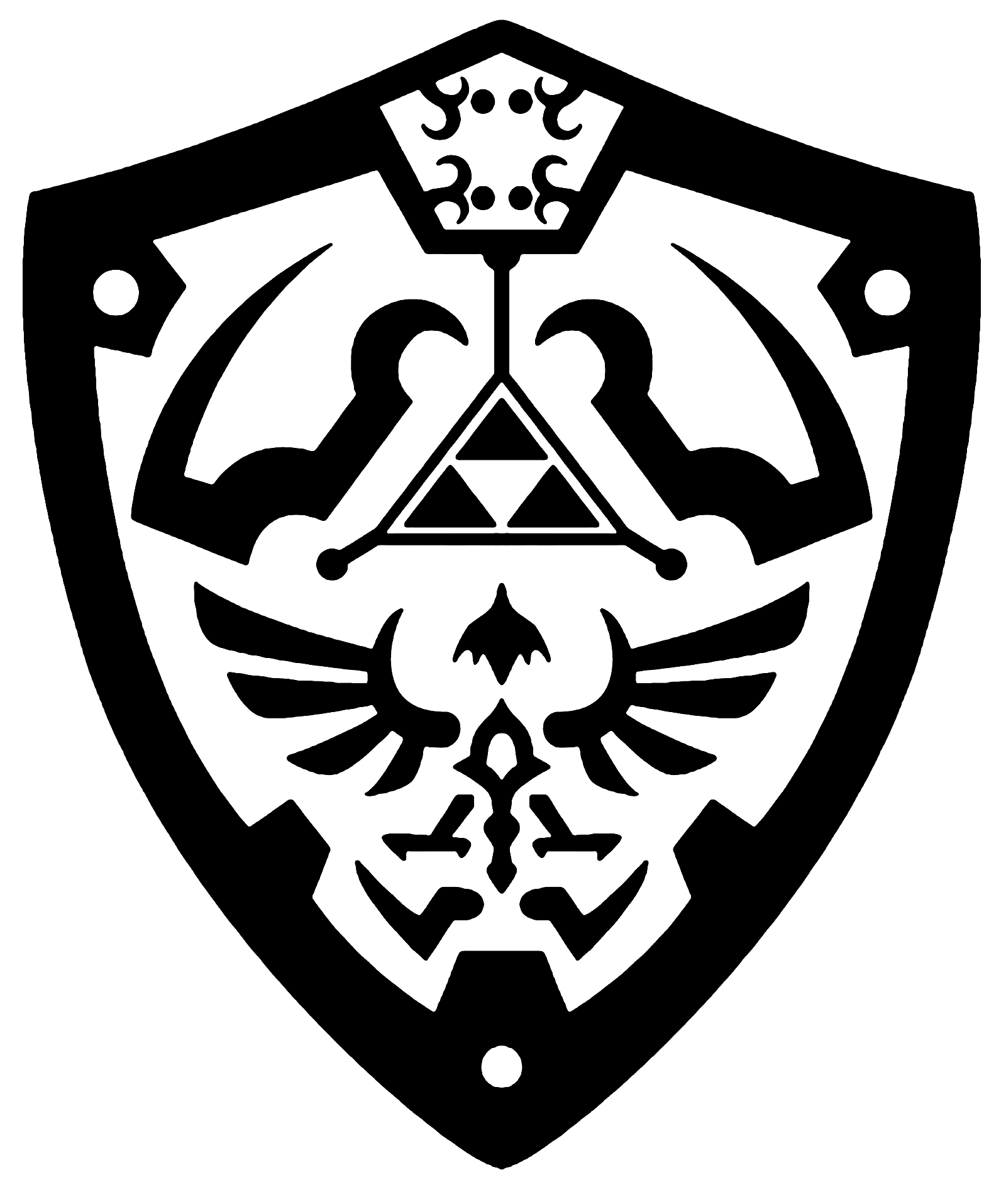 Shield vector png. Hylian by reptiletc deviantart