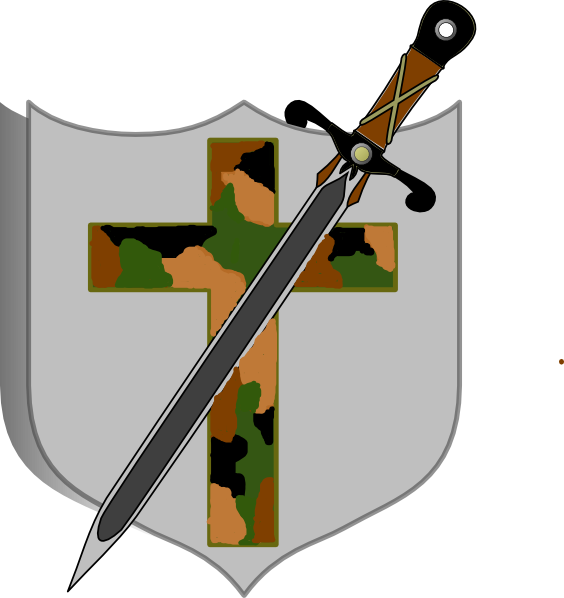 And shield camo colored. Clipart sword round