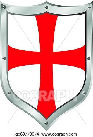 Clipart shield knights. Clip art vector templar
