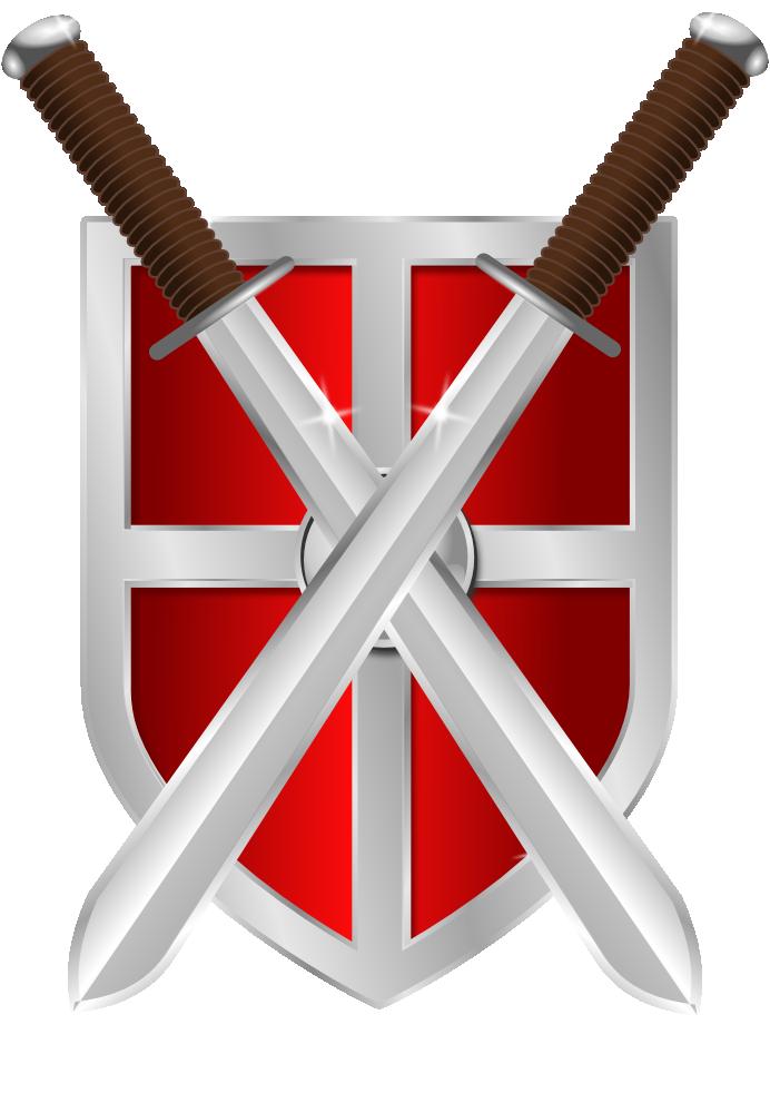 Onlinelabels clip art swords. Clipart shield knights