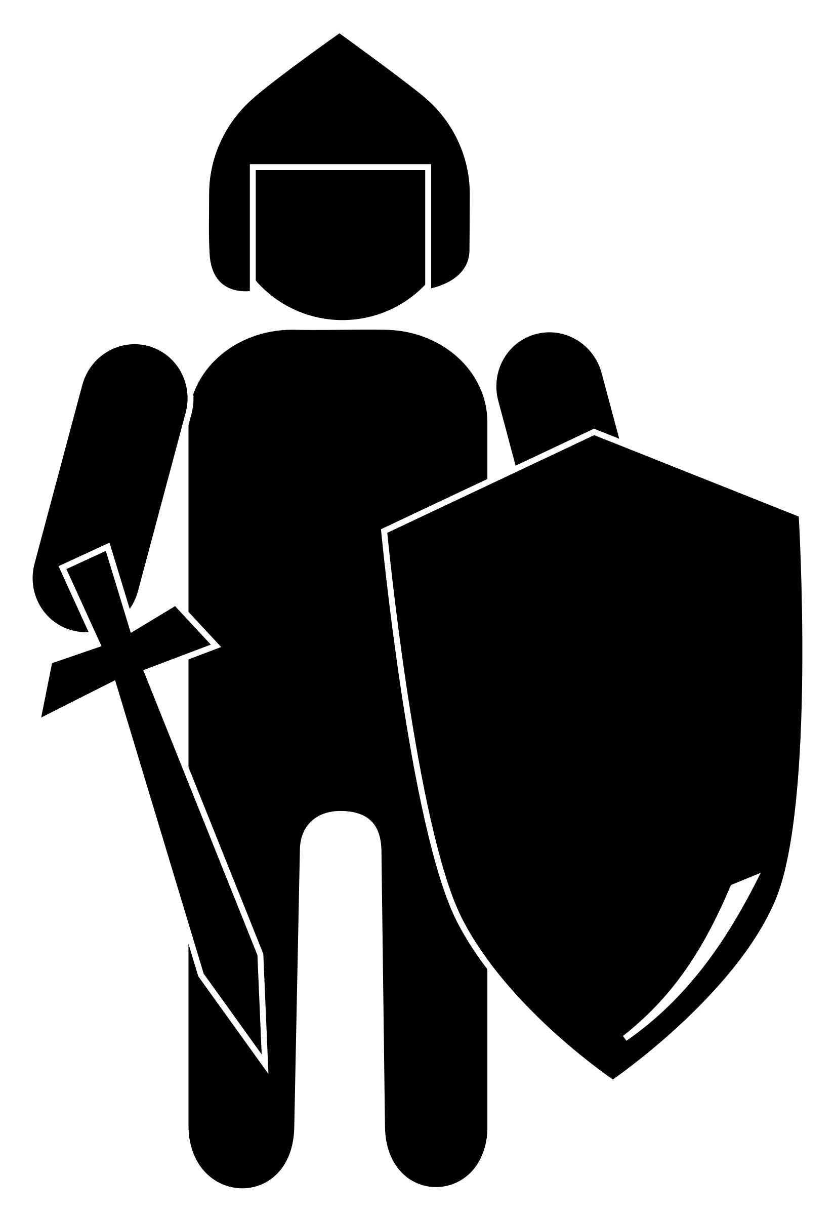 Clipart sword silhouette. Knight big image png